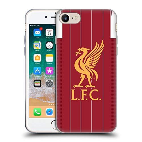 Head Case Designs Offizielle Liverpool Football Club Home 2019/20 Kit Soft Gel Handyhülle Hülle Huelle kompatibel mit Apple iPhone 7 / iPhone 8 / iPhone SE 2020