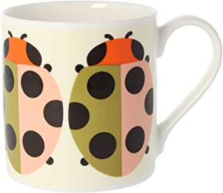 Orla Kiely Quite Big Mug, Lady Bug Colour: Orla Kiely Tomato