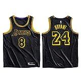 Camiseta de Baloncesto Kobe Bryant, Los Angeles Lakers # 8# 24 Jersey Ropa Deportiva, The Black Mamba Conmemorative Edition Camiseta sin Mangas Unisex Camiseta Deportiva-M