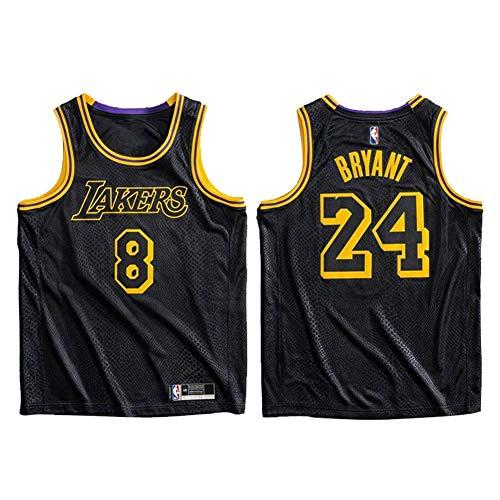Kobe Bryant Basketball Jersey, Los Angeles Lakers # 8# 24 Jersey Sportswear, The Black Mamba Commemorative Edition Unisex Maglietta senza maniche Top sportivo-M