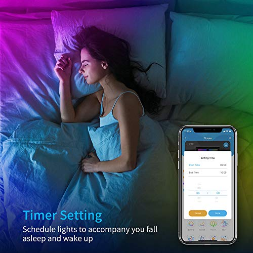 Govee Smart LED Strip Lights, 16.4ft WiFi LED Lights Work with Alexa and Google Assistant, Bright 5050 LEDs, 16 Million Colors with App Control and Music Sync for Home, Kitchen, TV, Party