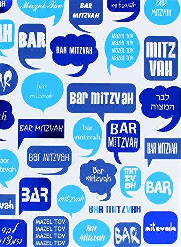 Bar Mitzvah Greeting Card Jewish Greeting Card Hebrew English - One Card with Matching Envelop