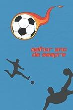 Caderno de Futebol de Linhas | Caderno Melhor Ano de Sempre | Regresso as Aulas | Caderno Escola Primaria Para Aluno: Cade...