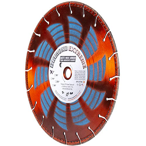 "Diamond Extreme Heavy Duty 12-Inch by 1-Inch Metal Cutting Rescue Diamond Blade with Diamond Side Coating for Power Hand-Held Power Saws & Chop Saws (12"" X .125 X 1""-20MM Bushing)"