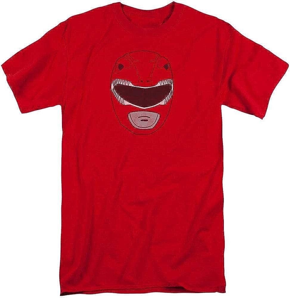 Power Rangers Red Ranger Mask Adult Tall Fit T-Shirt