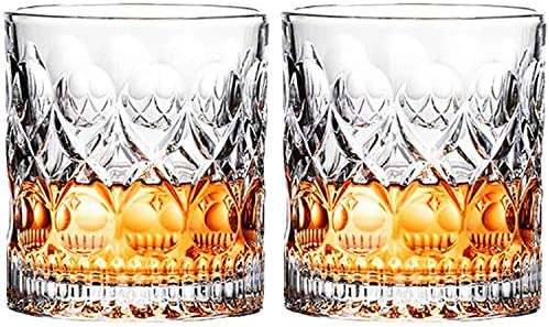 Whiskey Glass Set of 2 Mountain Crystal Wedge Glass Old Fashioned Tasting Tumblers Funny Gift product image