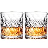 Best Whiskey Glasses - Whiskey Glass Set of 2 Mountain Crystal Wedge Review
