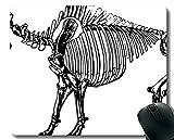 Yanteng Cojín de ratón con el Borde de Bloqueo, cojín de ratón Gigante de la Oficina de los Huesos del Dinosaurio