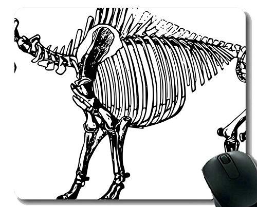 Cojín de ratón con el Borde de Bloqueo, cojín de ratón Gigante de la Oficina de los Huesos del Dinosaurio