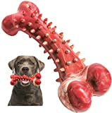 V-HANVER Juguetes Perros para Masticadores Agresivos de Razas Grandes, Masticar Hueso para Perros Grandes Medianos, Juguete para Mascotas Resistente Hecho con Goma No Tóxica con Sabor a Carne de Res