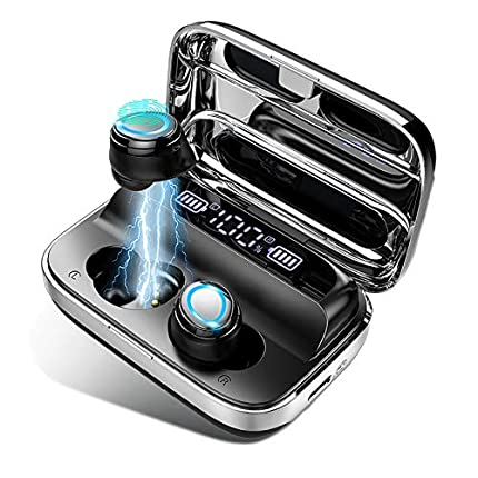 Auriculares Bluetooth 5.0 Inalámbricos Deportivos Auriculares In-Ear IP7 Impermeable Sonido Estéreo 6D, Autonomía Auto-On/Off Emparejamiento Sonido, Compatible con Dispositivos Que admiten Bluetooth