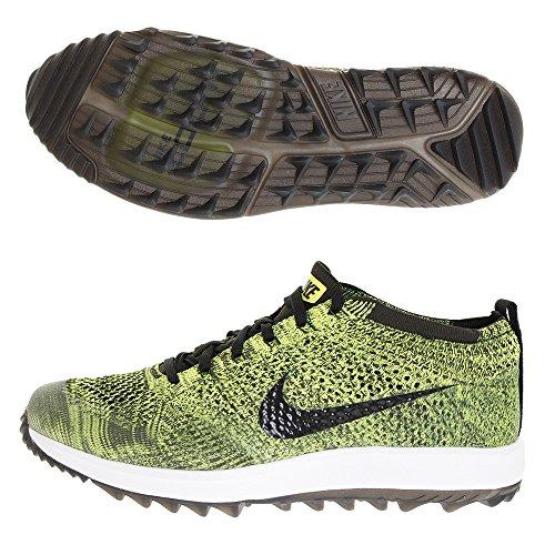 Nike Herren Flyknit Racer G Golfschuhe Grün (Verde/Negro 700) 44 EU