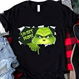Six Feet People Grinch, Funny Xmas Christmas Family Friends Matching Shirt, Funny Quarantine, Distance Social Shirt For Men Women
