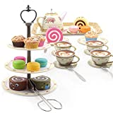 Kididdo 39 Pieces Tea Set for Little Girls Age...