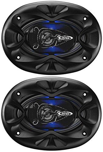BOSS Audio Systems BE464 250 Watt Per Pair, 4 x 6 Inch, Full Range, 4 Way Car Speakers Sold in Pairs