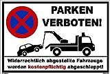 Cartel de aparcamiento 20x 30cm?Señal de prohibido?Placa aluminio ligero de Estable