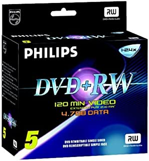 Philips Magnavox 4.7GB 5X DVD-RW (5-Pack)