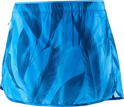 Salomon, Jupe-Short de Course pour Femme, AGILE SKORT, Taffetas, Bleu (Blithe), Taille L, LC1033600
