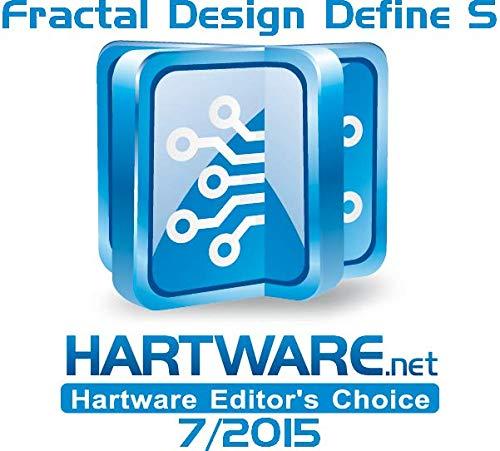 Fractal Design Define S - Mid Tower Custodia computer - Ottimizzato per flusso d'aria elevato e elaborazione silenziosa - Interno modulare - Pannello laterale a finestra - Nero Window