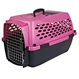 Petmate 21850 Transportin Vari Kennel 24 Ultra Fashion, 61 x 42 x 37 cm, Rosa y Negro