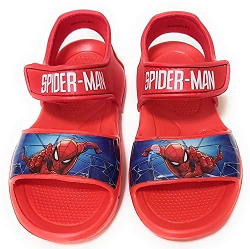 Sandali Spiderman Marvel per bambini – Sandali Marvel Spiderman con velcro per spiaggia o piscina Rosso Size: 26 EU