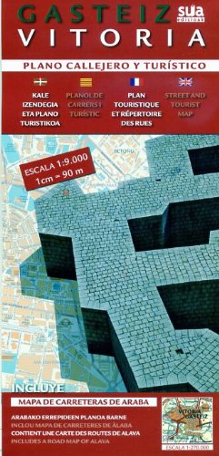 Gasteiz - Vitoria, plano callejero y turistico