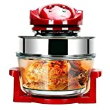 CHENJIU Halogen Oven 10 Litre with Lid Heat & Resistant Basket Halogen Digital Convection Oven Air Fryer with 60min Timer, Adjustable Temperature Control Dial Energy-Saving Healthy, 1200W,