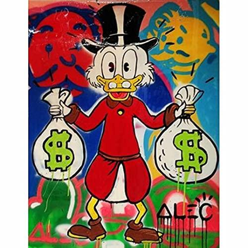 Puzzle 1000 piezas Doodle arte Donald Duck y dinero puzzle 1000 piezas clementoni Rompecabezas educativo de juguete para aliviar el estrés intelectual50x75cm(20x30inch)