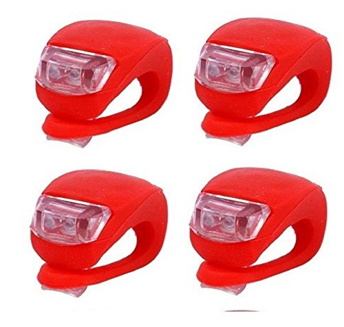 Lyanther Rueda Trasera de Bicicleta de Silicona LED Luz roja de Destello Rojo