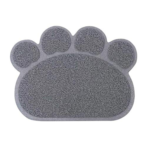 SunVee Cat Litter Mat, Pet Litter Rugs for Cats, Small Dogs and Rabbits, Paw-Shaped Waterproof Pet Water Bowl Placemat Feeding Mat Pad/Cushion/Floor Mat Carpet for Bathroom (30 x 40 cm)