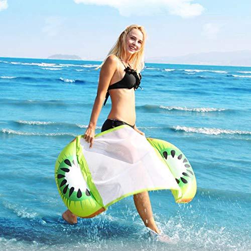 Color brillante Fruta Piscina Playa Flotador inflable Asiento inflable Agua Cama de aire Tumbona Ayudante Entrenador (color: kiwi mixto multicolor