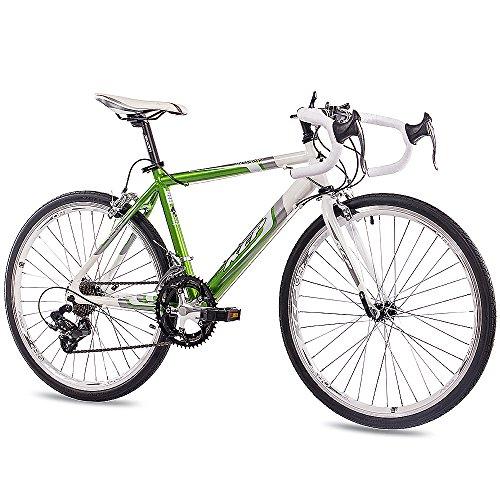 KCP 24 Zoll Kinder Rennrad - Runny Weiss grün - Kinderfahrrad mit 14 Gang Shimano Kettenschaltung für Jungen und Mädchen - Fahrrad für Kinder zwischen 9-13 Jahre und 1,35m bis 1,60m Körpergröße
