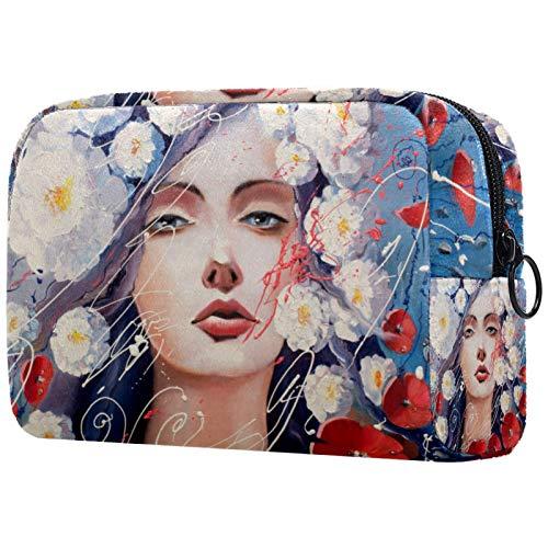 Bolsa de maquillaje bolsa de cosméticos organizador de viaje Neceser embrague,Nochevieja