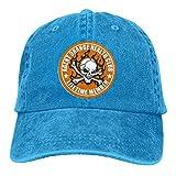 Lsjuee Round Agent Orange Health Club Gorras de béisbol Ajustables Sombreros de Mezclilla Sombrero d...