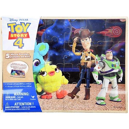 Disney Toy Story 4-5pk Wood Puzzle