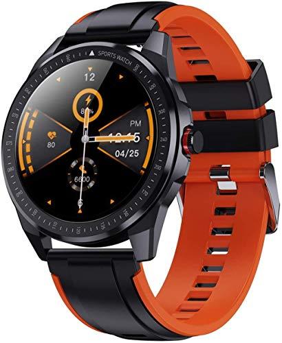 Reloj inteligente para hombres con rastreador de fitness con batería de 60 días de larga duración 5 ATM, resistente al agua 1.3, pantalla táctil completa