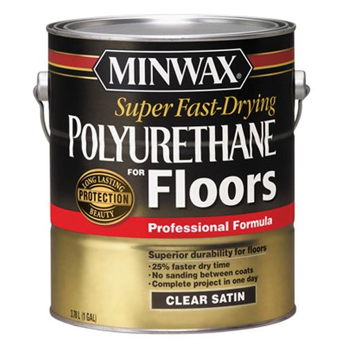 Minwax 13022000 Super Fast-Drying Polyurethane For Floors, 1 gallon, Satin