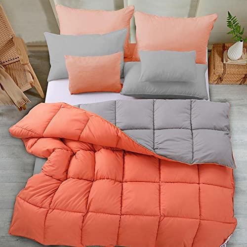 Cactuso Edredon Nordico 180x200,Abajo Es El Velvet Blanco De Verano Fresco-150x200cm 3000g_Gris Naranja,EdredóN Verano Cama Modernas