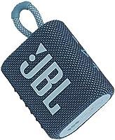 JBL GO 3 küçük Bluetooth kutusu, mavi – su geçirmez, taşınabilir hoparlör, yolculuk için – tek bir pil şarjıyla 5 saate...
