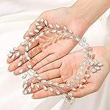IYOU nupcial boda pelo vid plata cristal tocados brillantes diamantes de imitación boda diadema accesorios para el cabello para mujeres y niñas