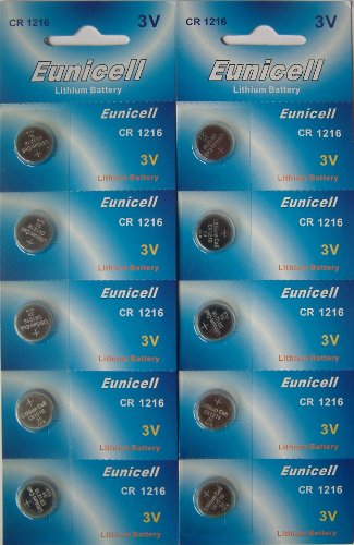 10 x CR1216 3 V Lithium Batterien Eunicell
