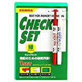ゼブラ 暗記用 チェックセット 緑 10個 B-SE-360-CK-G