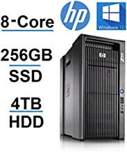 Beast Computer 8 CORE with 16 Hyperthreads - HP Z600 Workstation - 2 X Intel QUAD CORE Xeon up to 3.33GHzNEW 250GB SSD + 4TB HDD - 24GB RAM - 4 Monitor Capable - USB 3.0 (Renewed)