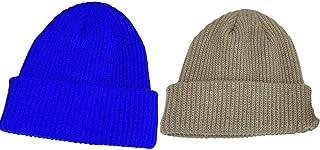 Beanie Hat for Women Men Winter Hat Womens Cuffed Beanies Knit Skull Cap Warm Ski Hats-H+I_56-62cm