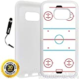 Custom Galaxy S7 Case (Ice Hockey Rink) Edge-to-Edge Rubber White Cover Ultra Slim | Lightweight | Includes Stylus Pen by Innosub