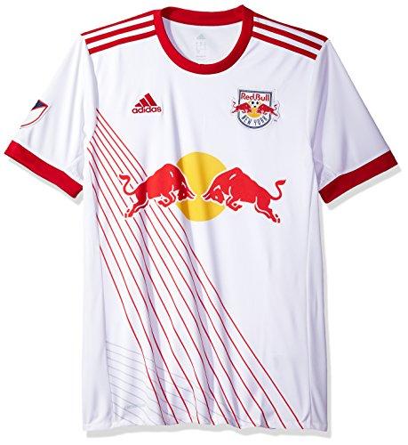 MLS New York Red Bulls Adult Men Replica Wordmark s/jersey,X-Large,White
