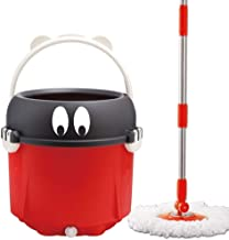 Spin Mop Bucket System,Automatic Rotating Household Hand-Free Washing Universal Mopping Mop Wet and Dry Mop 2-in-1 Mop