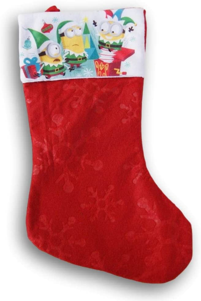 Despicable Me Red Holiday Felt Christmas Inch 9 x 16 Stocking Regular Spring new work one after another discount -