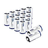 EBL Lithium CR123A Battery 3V 1600mAh 123 Photo Lithium Battery with 10-Year Shelf Life 16 Pack [Non-Rechargeable]