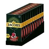 Jacobs Lungo Classico - Nespresso®* Cápsulas de café de aluminio compatibles - 10 Paquetes de 10 cápsulas (100 bebidas)